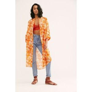 NEW Free People We The Free Printed Maxi Top XL